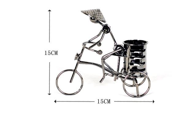 创意铁艺自行车笔筒